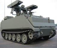 militär behållarelastbil för closeup Royaltyfri Bild