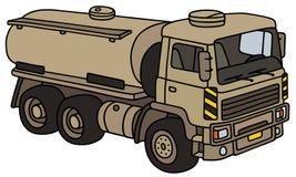 Militär behållarelastbil för sand stock illustrationer