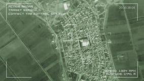 Militär bevakningskärm för moscow för cosmonautics minnes- avstånd för satellit museum 4K arkivfilmer