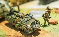 Militär bilmodell Arkivbild