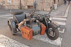 Militär-BMW R75 mit Maschinengewehr Stockfotografie