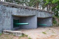 Militär bunker Arkivbilder