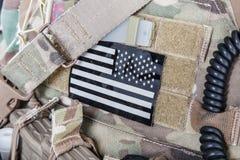 Militär der amerikanischen Flagge bessert aus Stockfoto