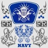 Militär design för MARIN - vektorillustration stock illustrationer