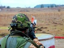 Militär exercice Fotografering för Bildbyråer