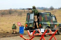 Militär exercice Royaltyfria Foton