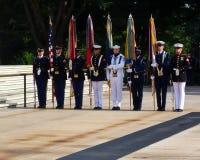 Militär färgvakt Arlington Arkivfoton