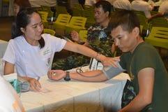 Militär för bloddonation Royaltyfria Foton