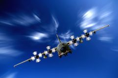 militär för flygplan c130 Arkivbilder
