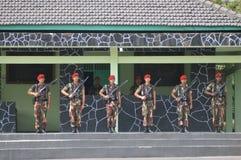 Militär för specialförband (Kopassus) från Indonesien royaltyfri foto