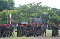 Militär för specialförband (Kopassus) från Indonesien Fotografering för Bildbyråer
