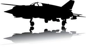 Militär flygplanvektor Arkivbild