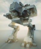 Militär futuristisk robot 3d framför stock illustrationer