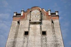 militär gammal sydlig watchtower för porslin Arkivbild