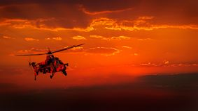 Militär helikopter Royaltyfri Fotografi