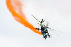Militär helikopter Mi 24 Arkivbild