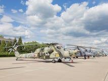 Militär helikopter MI-28 Arkivfoto