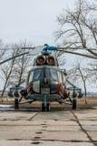 Militär helikopter Mi-8 Arkivbild