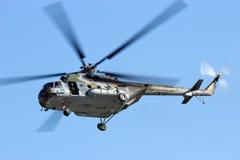 Militär helikopter Mi-171 för tjeckiskt flygvapen Arkivfoton