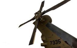 Militär helikopter som isoleras på vit bakgrund Arkivfoton
