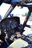 Militär helikoptercockpit Royaltyfria Foton
