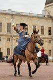 Militär historisk festival Gatchinskaya Byl Royaltyfri Bild