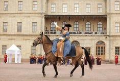 Militär historisk festival Gatchinskaya Byl Arkivfoto