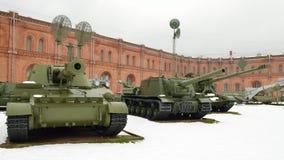 Militär-historiskt museum av artilleri Arkivfoto