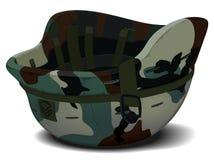 Militär hjälm i kamouflage Royaltyfri Fotografi