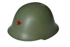 Militär hjälm JNA Arkivbild