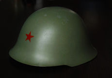 Militär hjälm JNA & x28; Yugoslavia& x29; royaltyfria foton