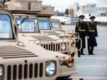 Militär hjälp till Ukraina Arkivbilder