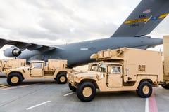 Militär hjälp till Ukraina Royaltyfri Fotografi