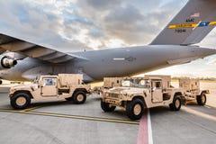 Militär hjälp till Ukraina Royaltyfri Bild
