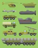 Militär illustration för vektor för lägenhet för harnesk för tekniktransportmedel royaltyfri illustrationer
