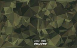 Militär kamouflagebakgrund för abstrakt vektor som göras av geometriska triangelformer Arkivbilder