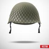 Militär klassisk hjälmvektor Arkivbild