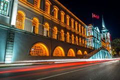 Militär Kuleli för hög skola skola i Istanbul Arkivbilder