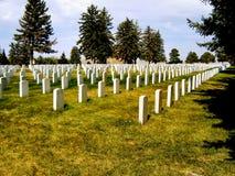 Militär kyrkogård Royaltyfri Foto