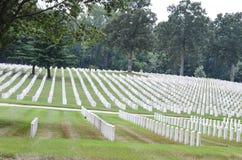 Militär kyrkogård arkivfoto