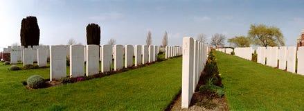 Militär kyrkogård av det första världskriget Arkivbilder