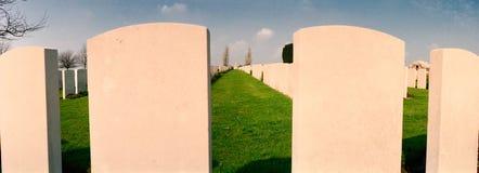 Militär kyrkogård av det första världskriget Royaltyfri Bild