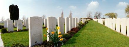 Militär kyrkogård av det första världskriget royaltyfria bilder
