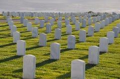 Militär kyrkogård för Förenta staterna i San Diego, Kalifornien Arkivfoto