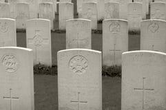 Militär kyrkogård för WWI i Flanders, Belgien Royaltyfri Bild