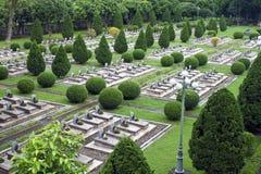 Militär kyrkogård i Dien Bien Phu Arkivbild