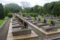 Militär kyrkogård i Dien Bien Phu Fotografering för Bildbyråer