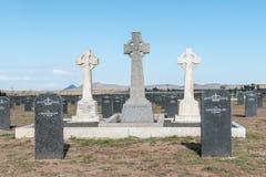Militär kyrkogård på Springfontein Arkivbild