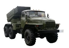 militär lastbil Royaltyfria Foton