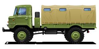militär lastbil royaltyfri illustrationer
